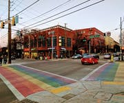Photo of The Atlanta Rainbow Crosswalks