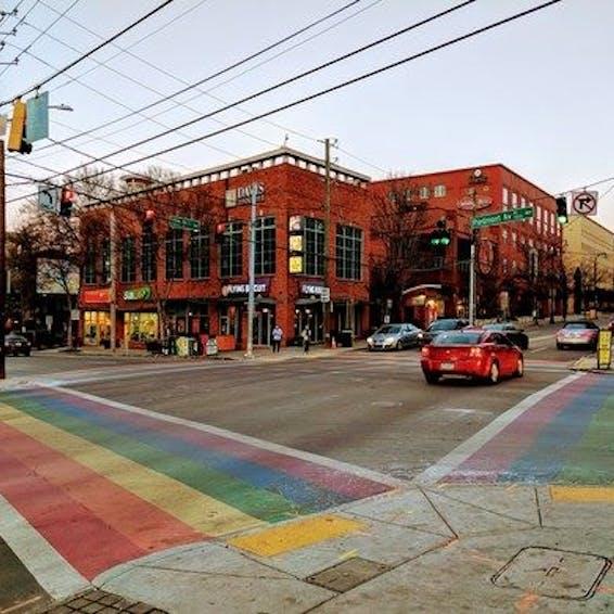 Photo of The Atlanta Rainbow Crosswalks