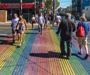 Photo of Castro Rainbow Crosswalk