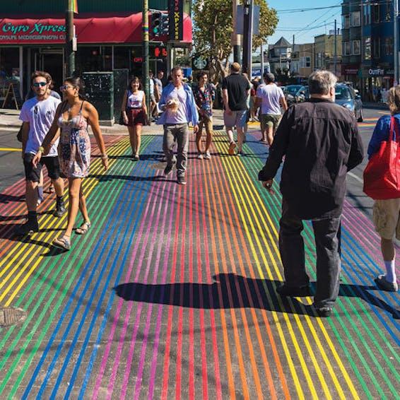 Photo of Castro Rainbow Crosswalk