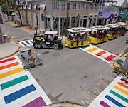 Photo of Key West Rainbow Crosswalk