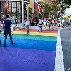Photo of WeHo Rainbow Crosswalk