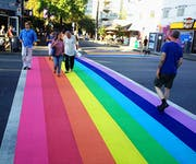 Photo of Vancouver Rainbow Crosswalk