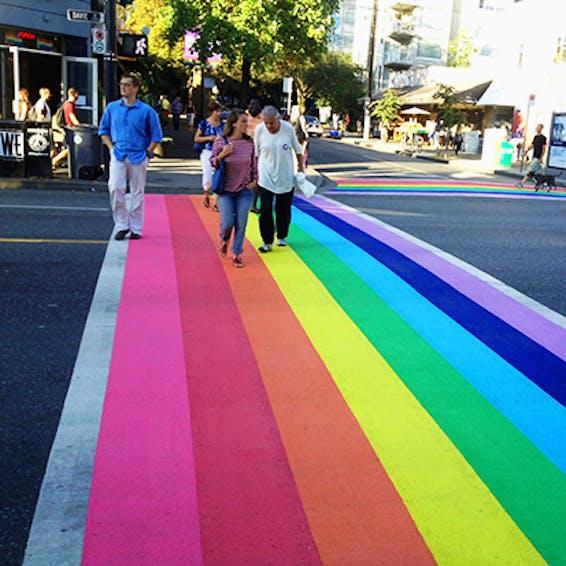 Photo of Vancouver Rainbow Crosswalk