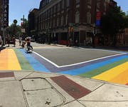 Photo of Philadelphia Rainbow Crosswalk