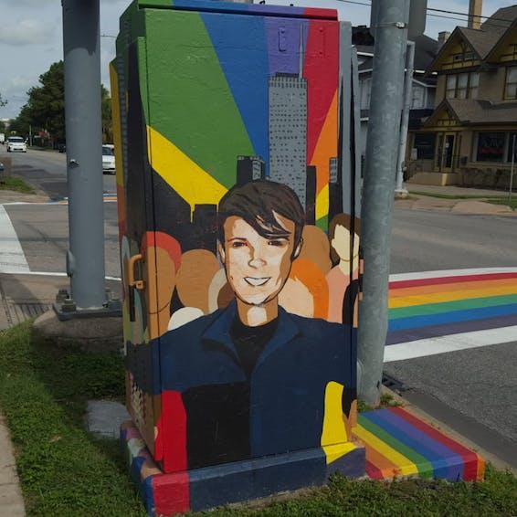 Photo of Houston Rainbow Crosswalk