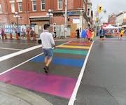 Photo of Ottowa Rainbow Crosswalk