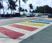 Photo of Miami Rainbow Crosswalk