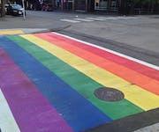 Photo of Seattle Rainbow Crosswalk