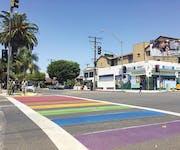 Photo of Long Beach Rainbow Crosswalk