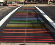 Photo of Sacramento Rainbow Crosswalk