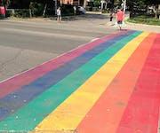 Photo of Toronto Rainbow Crosswalk