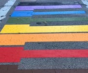 Photo of Milwaukee Rainbow Crosswalk