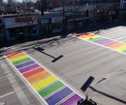 Photo of Denver Rainbow Crosswalk