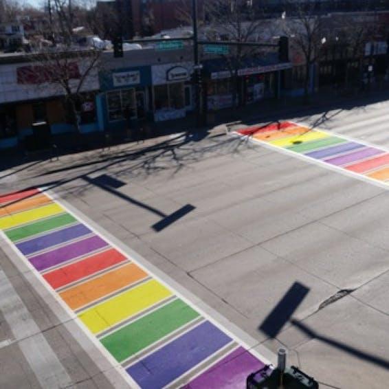 Photo of Denver Rainbow Crosswalk